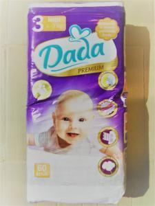 Подгузники детские DADA PREMIUM 3, 60 штук., 4-9 кг.