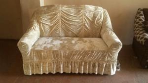 Фото  Чехол велюр диван и два кресла