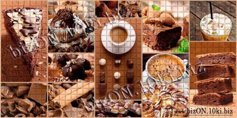 Фото Листовые панели ПВХ Мозаика «КОРИЦА»   Листовые панели ПВХ