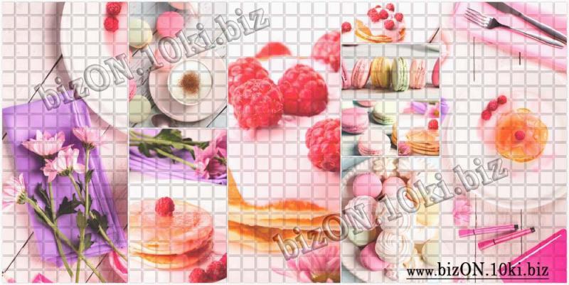 Фото Листовые панели ПВХ Мозаика «ЗАВТРАК»   Листовые панели ПВХ