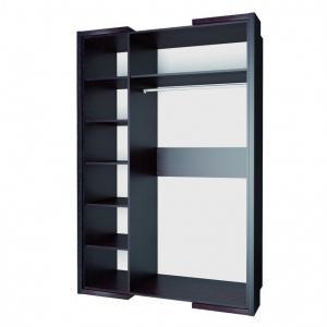 Фото  Шкаф-купе с зеркалами отделанный кожей 1,5м