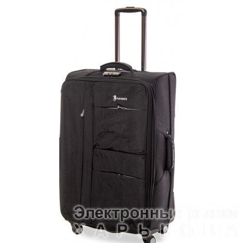 Дорожный чемодан Haiways 4-х колесах замок код Артикул 104 серый