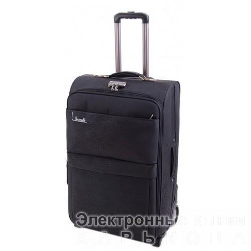 Дорожный чемодан Haiways 4-х колесах замок код Артикул 104 черный