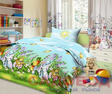 Комплект постельного белья из бязи  СКАЗОЧНАЯ ПОЛЯНКА 1,5 спальный с 2 наволочками