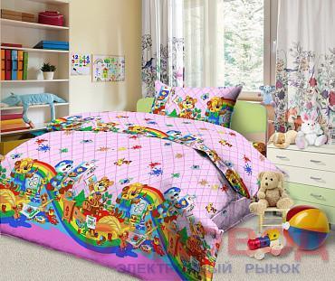 Комплект постельного белья из бязи  Веселый художник1,5 спальный с 2 наволочками
