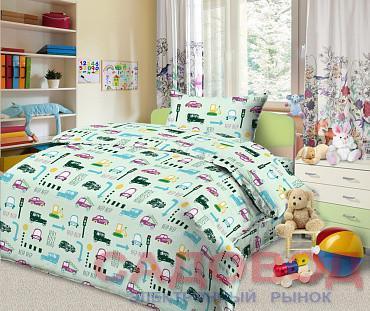 Комплект постельного белья из бязи Уступи дорогу 1,5 спальный с 2 наволочками