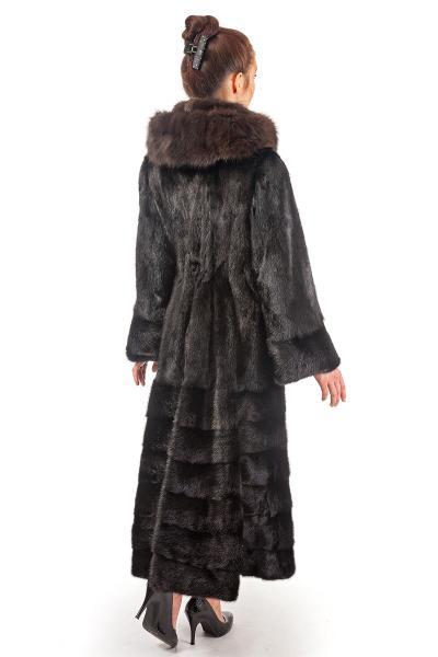 Фото Шубы из норки Норка скандинавская капюшон соболь