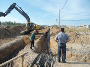 Фото  Прокладка кабельных линий электроснабжения в Самаре.