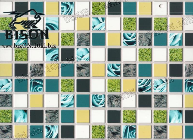 Фото Листовые панели ПВХ Мозаика «ГОЛУБАЯ РОЗА»   Листовые панели ПВХ