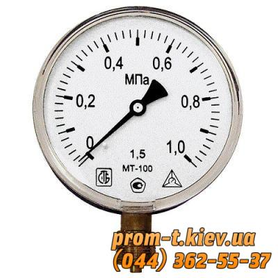 Фото Манометры вакуумные, давления, электроконтактные, Манометр МП Манометр МП-100