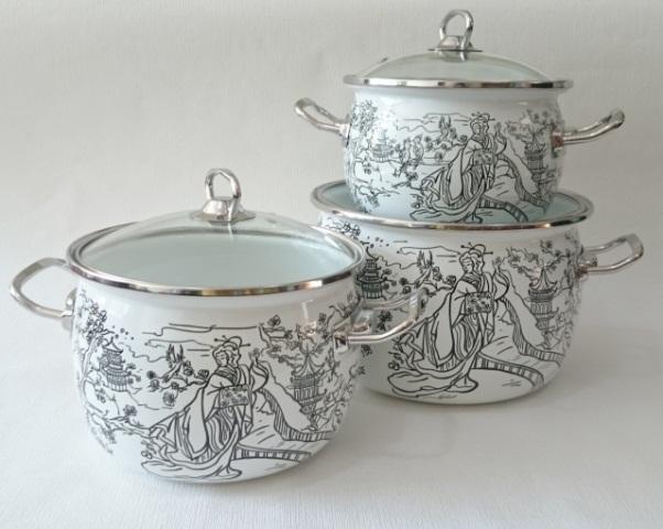 Фото Наборы посуды, Наборы эмалированной посуды Набор № 1600 Наоми (EPOS)