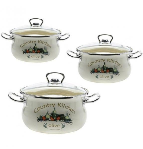 Фото Наборы посуды, Наборы эмалированной посуды Набор № 1000 Тоскана (EPOS)