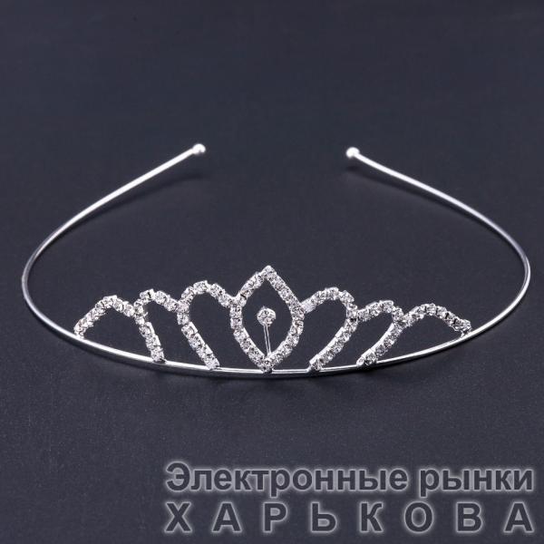 """Диадема """"Элеонора"""" цвет металла """"серебро"""""""