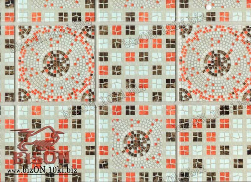 Фото Листовые панели ПВХ Мозаика «ФИЕСТА ТЕРРАКОТА»   Листовые панели ПВХ