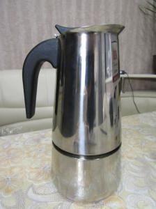 Фото  Гейзерная кофеварка из нержавеющей стали! объём 450мл\9чашечек