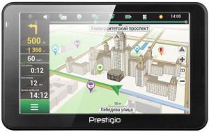 Фото Автомобильная электроника, GPS-навигаторы GPS-навигатор Prestigio GV 5068 (черный)