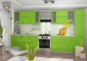 Фото  Кухня ОЛИВА - ЗЕЛЕНЫЙ модульная(ДСВ мебель)