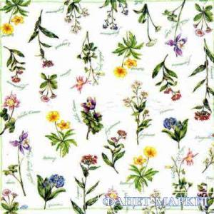 Фото Салфетки для декупажа, Цветы Салфетка Лесные травы СД-053