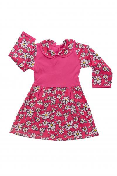 Фото Трикотаж для девочек, Платья Платье футер