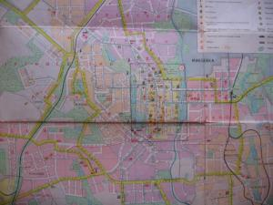 Фото Карты городов МИРА Донецк Туристическая схема 1980