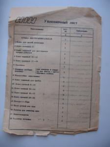 Фото Документы ИЖ упаковочный лист