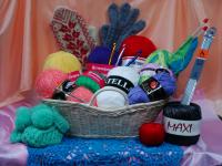 логотип Пряжа, товары для вязания и шитья.