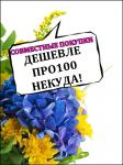 """логотип Совместные покупки """"Дешевле про100 некуда!"""""""