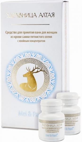 Средство для принятия ванн для женщин из крови самки пятнистого оленя с хвойным концентратом (100г, набор из 10 флаконов по 10г) PA-06