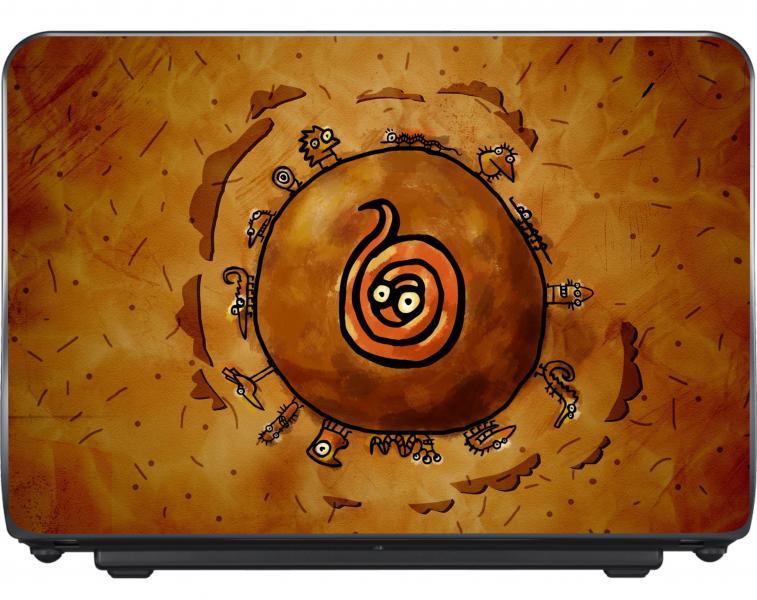Виниловая наклейка на ноутбук 12