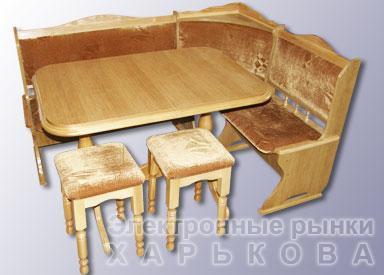Кухонный набор деревянной мебели из массива - Кухонные гарнитуры на рынке Барабашова
