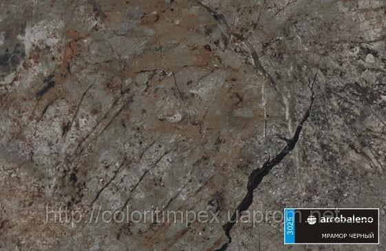 "Декоративный пластик ""Arcobaleno"", Мрамор черный(арт 3025)"