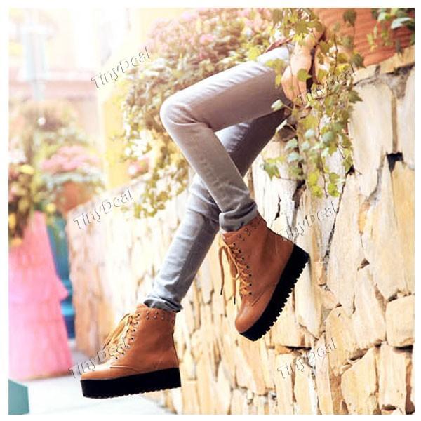 Ботинки из кожи и меха офцы