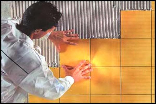 Поклейка флизелина (потолок)