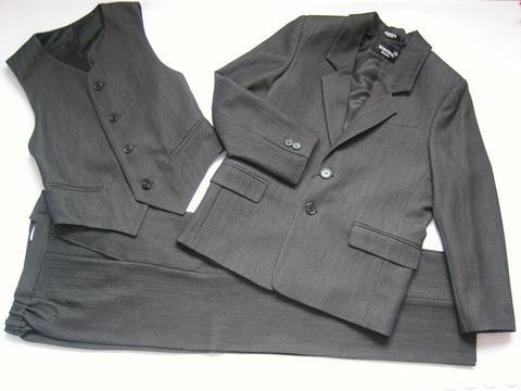 Школьный костюм темно-серого цвета