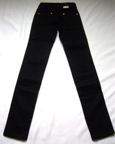Узкие детские джинсы черного цвета