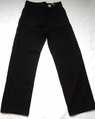 Подростковые джинсы черного цвета свободного кроя