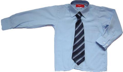 Детская рубашка для мальчиков голубого