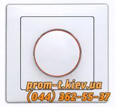 Фото Выключатели, розетки, установочные элементы, Delux выключатели, розетки, диммер Выключатель (диммер) реостат 800 Вт Wega-9101