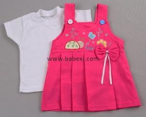 Фото BABEXI, Одежда для новорожденных Сарафан для девочки + футболка. 6,9 месяцев. Код 56956.