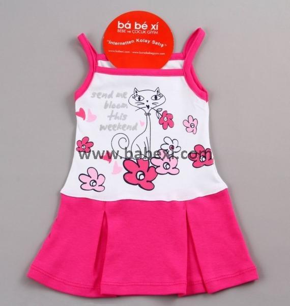 Сарафан для девочки с плиссированной юбкой. 3,6,9месяцев. Код 57481