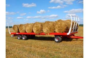 Фото Сельскохозяйственная техника   METAL-FACH, Сельскохозяйственные Прицепы Платформа для рулонов T009/1 - 11T