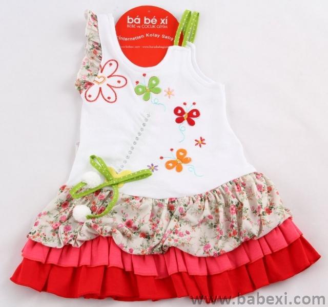 Сарафан для девочек 1,3,6 месяцев. Код 56433.