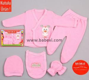 Фото BABEXI, Одежда для новорожденных Подарочный набор из 5 предметов. Код 13 582