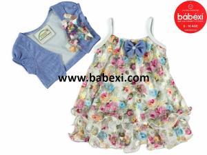 Фото BABEXI, Одежда для новорожденных Сарафан+болеро для девочки 1,3,6 месяцев. Код 64695.