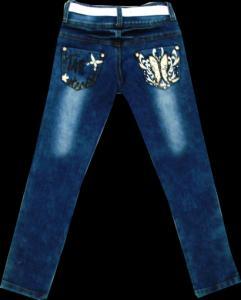 Фото ТМ Armaiti, Брюки джинсовые для девочек Брюки джинсовые для девочек Бабочка рост 116-140 см.Код 8016