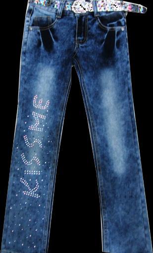 Брюки джинсовые для девочек Kiss 116-140 см. Код -K1823