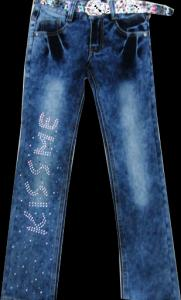 Фото ТМ Armaiti, Брюки джинсовые для девочек Брюки джинсовые для девочек Kiss 116-140 см. Код -K1823