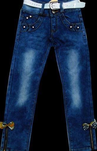 Брюки джинсовые для девочек 116-140см. Код #8003