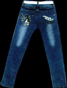 Фото ТМ Armaiti, Брюки джинсовые для девочек Брюки джинсовые для девочек с рисунком 116-140см. Код #8017