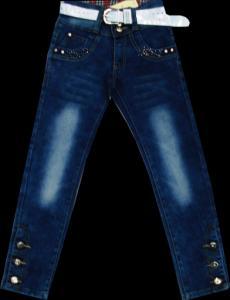Фото ТМ Armaiti, Брюки джинсовые для девочек Брюки джинсовые для девочек с поясом116-140см. Код #8012